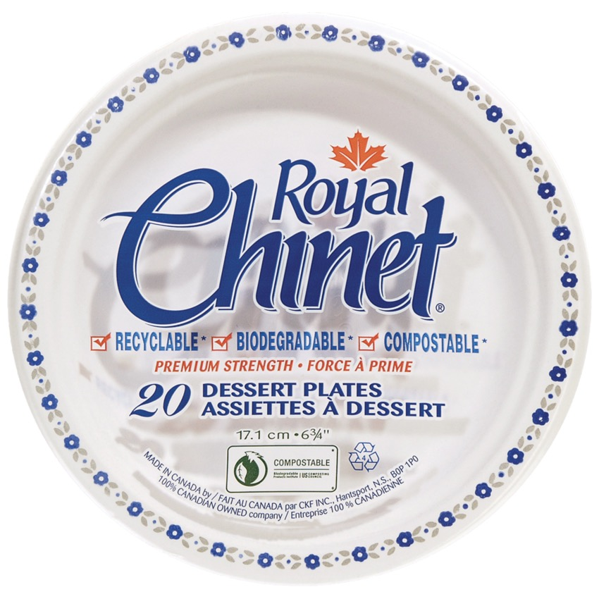 Royal Chinet Disposable Plates 6  Pack of 20  sc 1 st  Denis Office Supplies and Furniture & DISPOSABLE PLATE 6 20/PKG - 38645-00 - 10112/055230 - Fournitures de ...